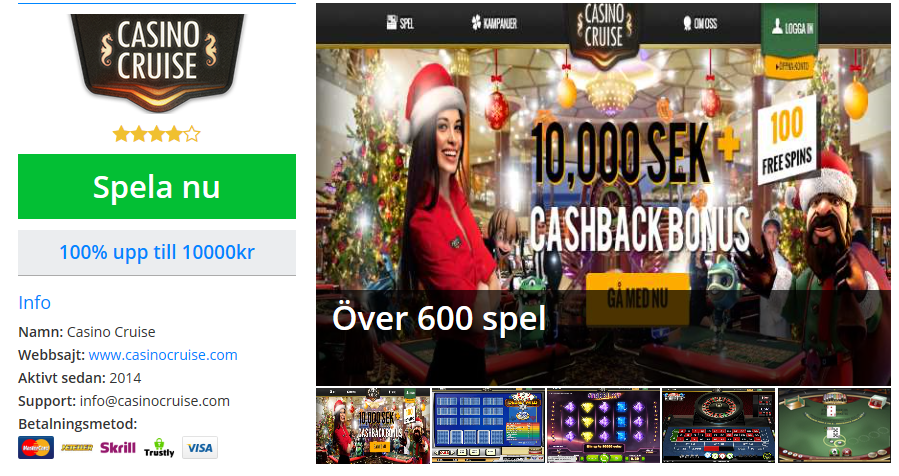 Svenska casino games at casinos with best odds